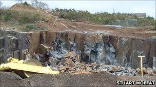 Explosion site. Picture by Stuart Moffat