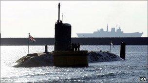 Nuclear submarine HMS Triumph