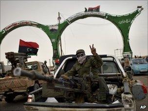 Rebel fighter near the frontline in eastern Libya