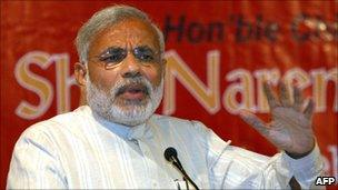 Gujarat Chief Minister Narendra Modi (file photo - February 2009)