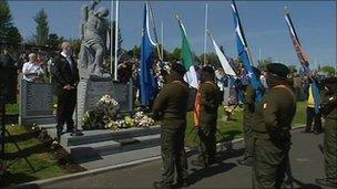 Dissident republican group, the Real IRA, stage a rally in Londonderry