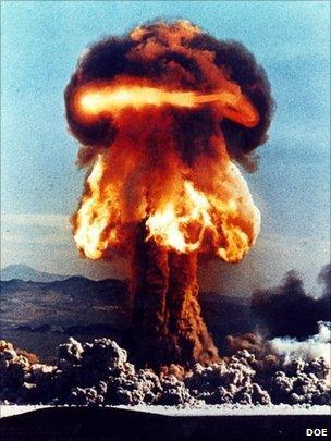 Atomic weapons test DOE