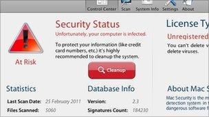 Fake security software, BBC