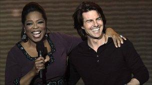 Oprah Winfrey and Tom Cruise