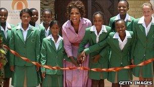 Oprah Winfrey opens her school