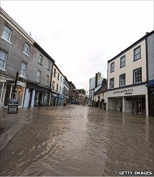 Cockermouth floods, November 2009 (Getty Images)