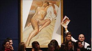 Auction of Freud's portrait of Kate Moss