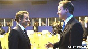 Nicholas Sarkozy and David Cameron