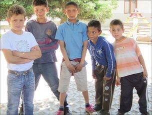 Roma children in Tiszavasvari