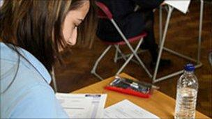 Pupil sits exam