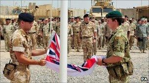 British troops leaving Iraq