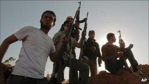 Rebels near Misrata, Libya (9 June 2011)