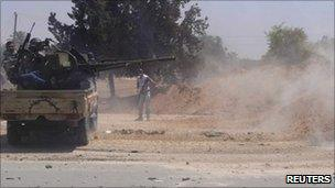 Libyan rebels near Misrata, 12 June