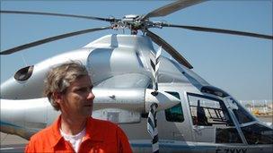 Experimental test pilot Herve Jammayroc