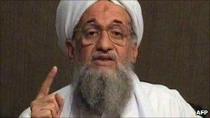 Ayman al-Zawahiri as he gives a eulogy for former al-Qaeda leader Osama Bin Laden in a video released on jihadist forums on 8 June 2011 (image provide by SITE Intelligence Group)