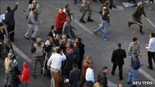 Protest in Cairo. 9 March 2011