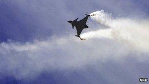 Saab Gripen takes to the air at the Farnborough Air Show, July 17th 2006