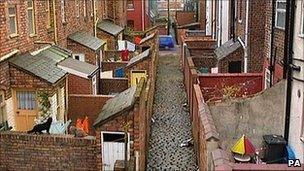 A scene from Coronation Street