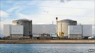 Fessenheim nuclear plant, France, 14 Mar 11