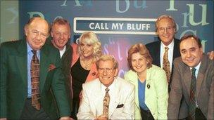 The Call My Bluff teams and guests