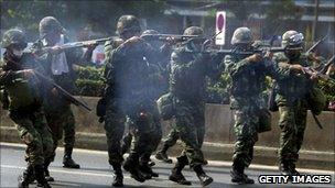 Military crackdown in Bangkok, May 2010