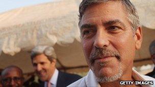 George Clooney in Juba in January 2011