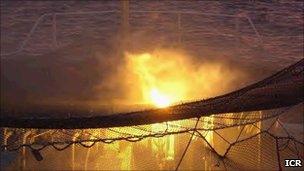 Netting on board burning