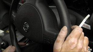 Smoker in car