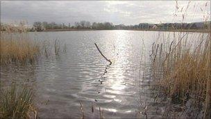 Lake at the Cotswold Water Park