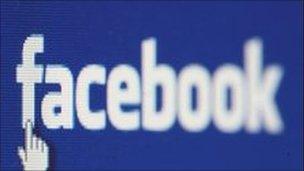 Facebook website screen shot