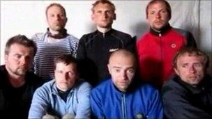 Estonian hostages appearing in video shot by their captors
