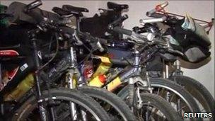 Cycles belonging to kidnapped Estonians