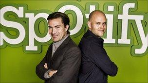 Founders Daniel Ek and Martin Lorentzon