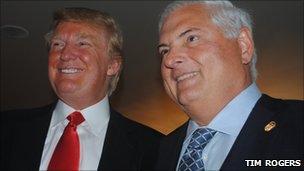 Donald Trump and Ricardo Martinelli