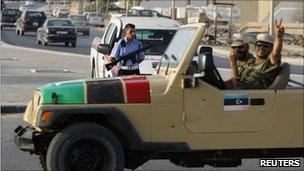 Security officials in Misrata, Libya (17 July 2011)
