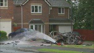 Maple Grove car blast