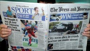 Tabloid Monday Press and Journal