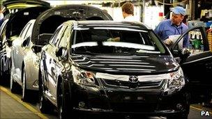 Toyota production line in Derbyshire