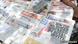Various Indian newspapers