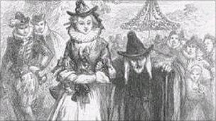 Anne Redferne and Chattox, accused of being Pendle witches