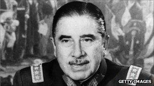 File photo of Augusto Pinochet