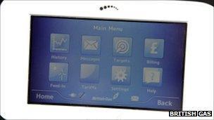 Smart meter screen