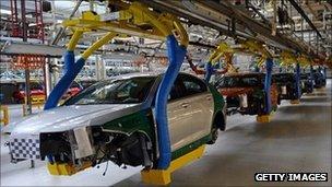 MG factory production line at Longbridge, Birmingham