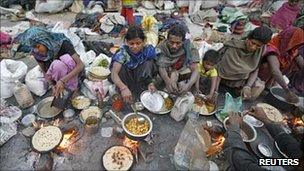 Poor people in India