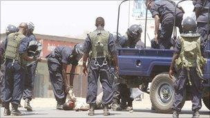 Police in Kitwe - 22 September 2011