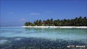 Kurumba island in the Maldives