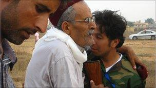 Elderly man who says his son was killed at Abu Salim in 1996