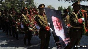 Funeral of Burhanuddin Rabbani, 23 Oct