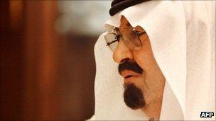 Saudi Arabia's King Abdullah in Riyadh on 25 September 2011