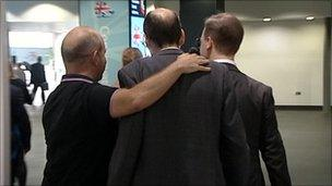 Steve Hilton with his arm around Andrew Tyrie